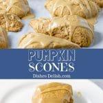 Pumpkin Scones for Pinterest