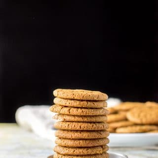 Tower of ginger molasses cookies
