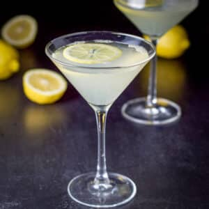 The classic martini filled with the lemon drop martini square
