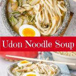 Udon Noodle Soup for Pinterest