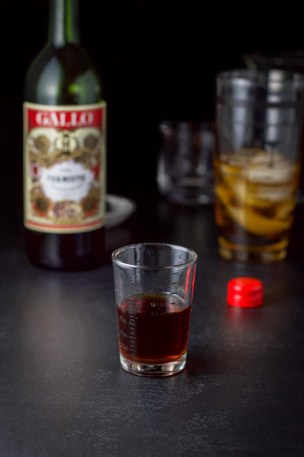 sweet vermouth for the bourbon Manhattan