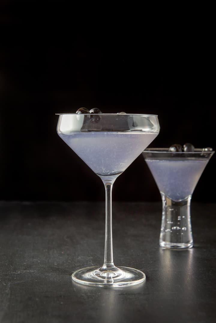 Vertical view of the aviation cocktail