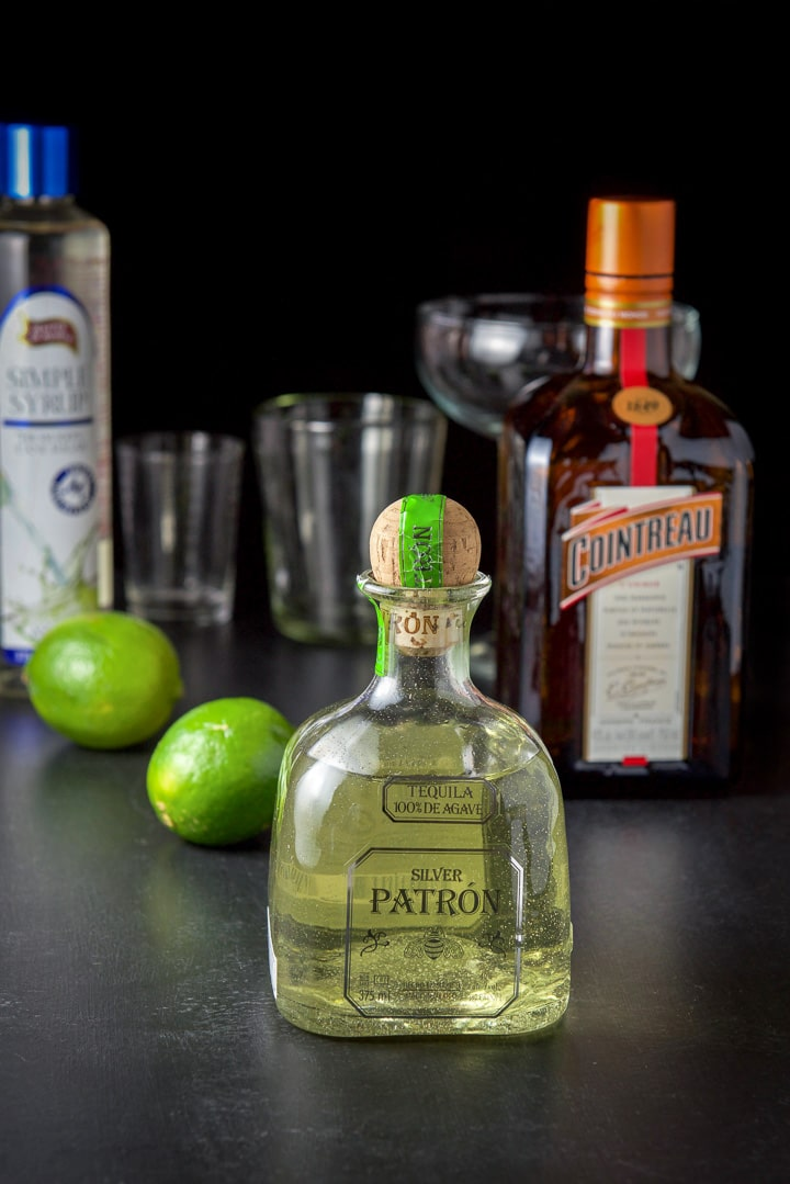 Jalapeño infused vodka, limes, Cointreau and simple syrup for the jalapeño margarita