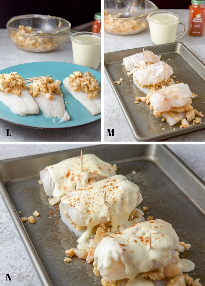 Seafood Stuffed Fish Collage Rolling it