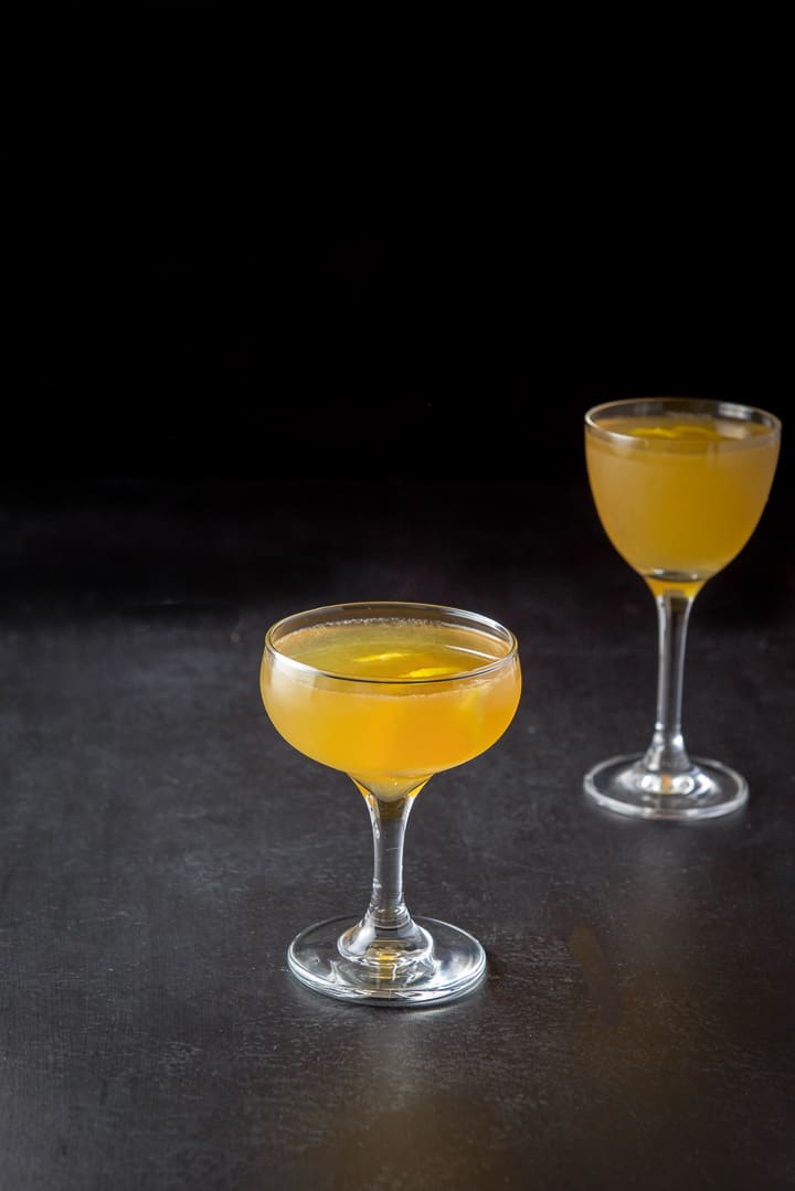 Another view of the sidecar cocktail
