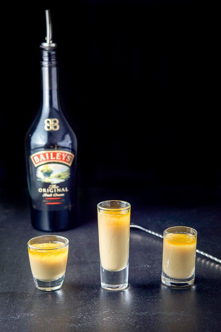Baileys Irish cream layered into the Captain Crunch shot