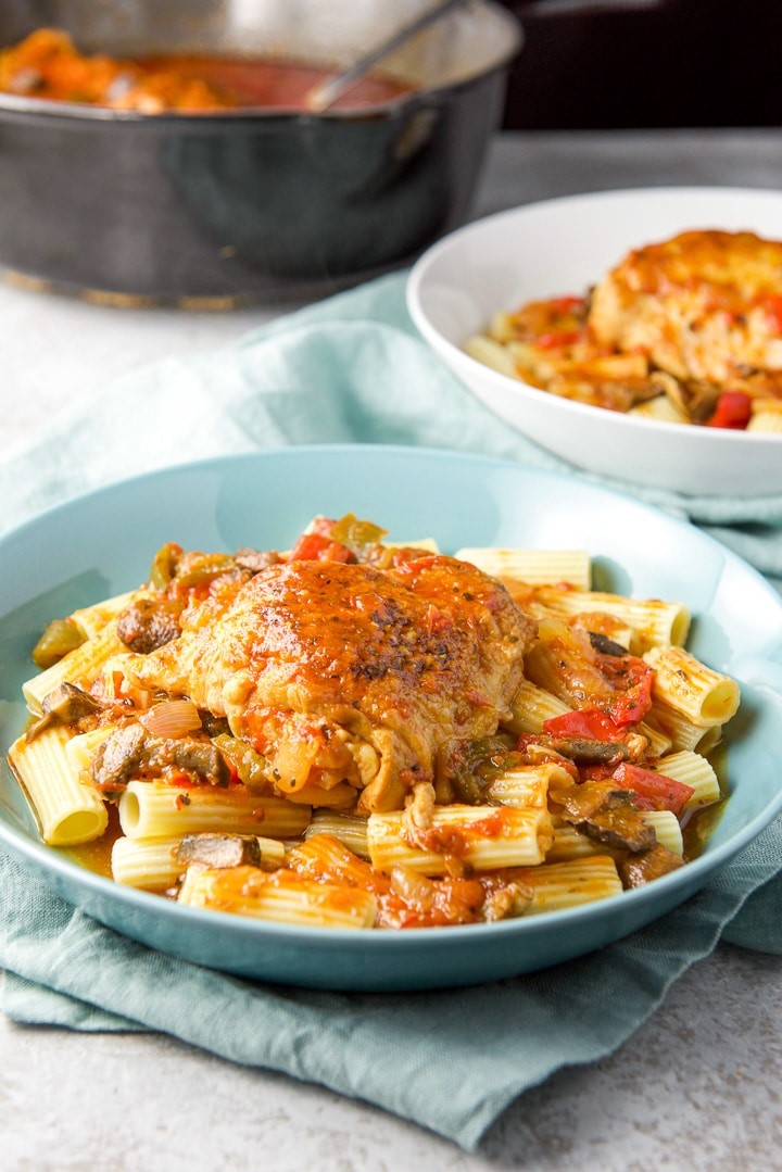 Different view of the instant pot chicken cacciatore