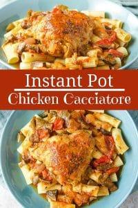Instant Pot Chicken Cacciatore for Pinterest