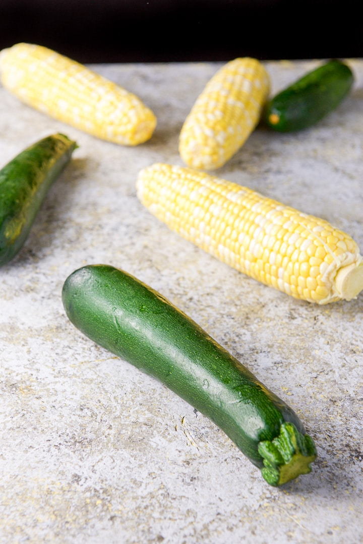 Zucchini and corn for the summer soup