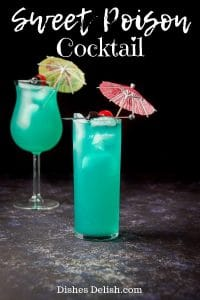 Sweet Poison Cocktail for Pinterest