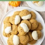 Pumpkin Cream Cheese Cookies for Pinterest
