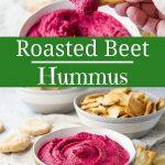 Roasted Beet Hummus for Pinterest