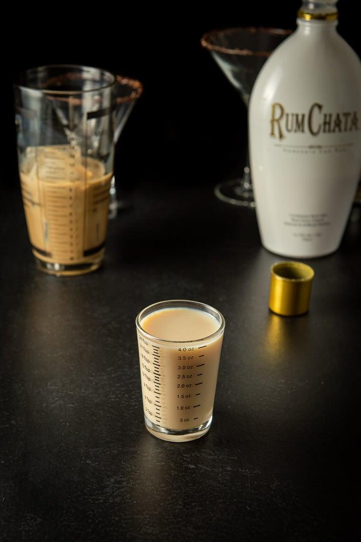 RumChata measured for the Godiva chocolate martini