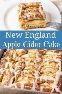 New England Apple Cider Cake for Pinterest