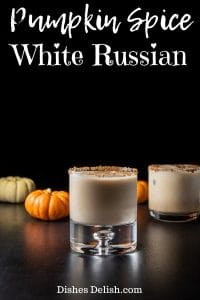 Pumpkin Spice White Russian for Pinterest