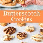 Butterscotch Cookies for Pinterest