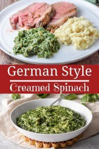 German Style Creamed Spinach for Pinterest