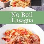 No Boil Lasagna for Pinterest