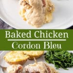 Baked Chicken Cordon Bleu for Pinterest