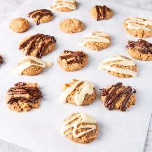 Butterscotch cookies on some parchment paper