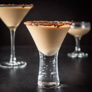 Vertical view of the Godiva chocolate martini square