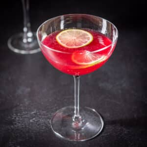 Square photo of the pomegranate cosmo