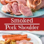 Smoked Pork Shoulder for Pinterest
