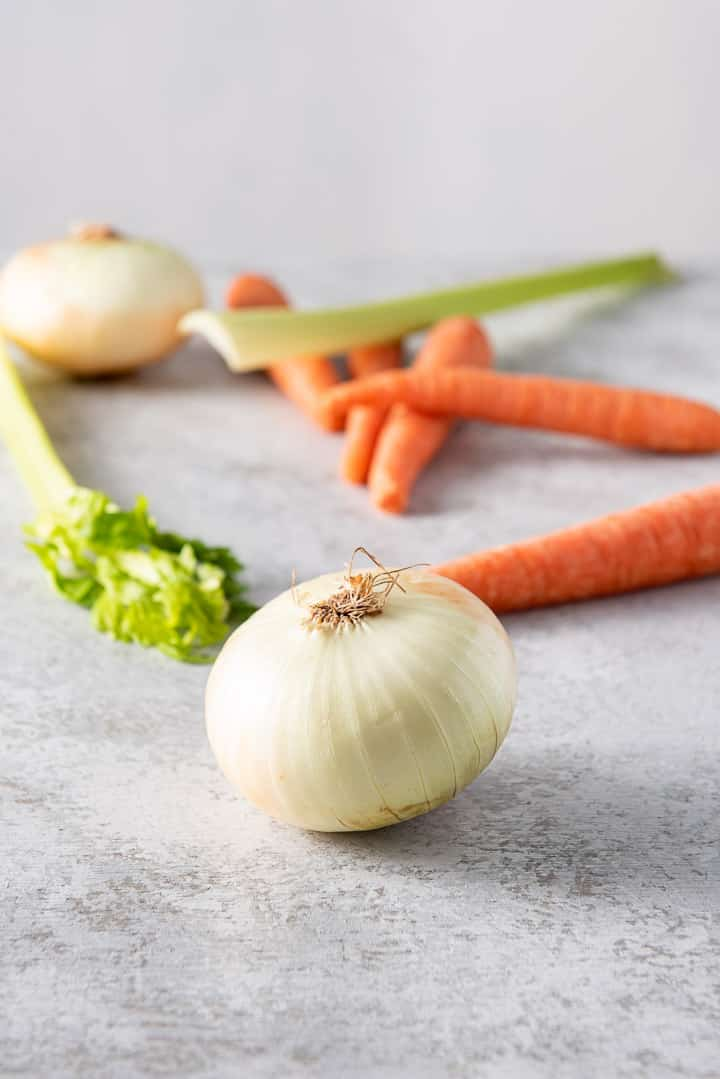 Vegetables for the chicken soup