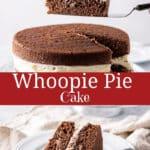 Whoopie Pie Cake for Pinterest